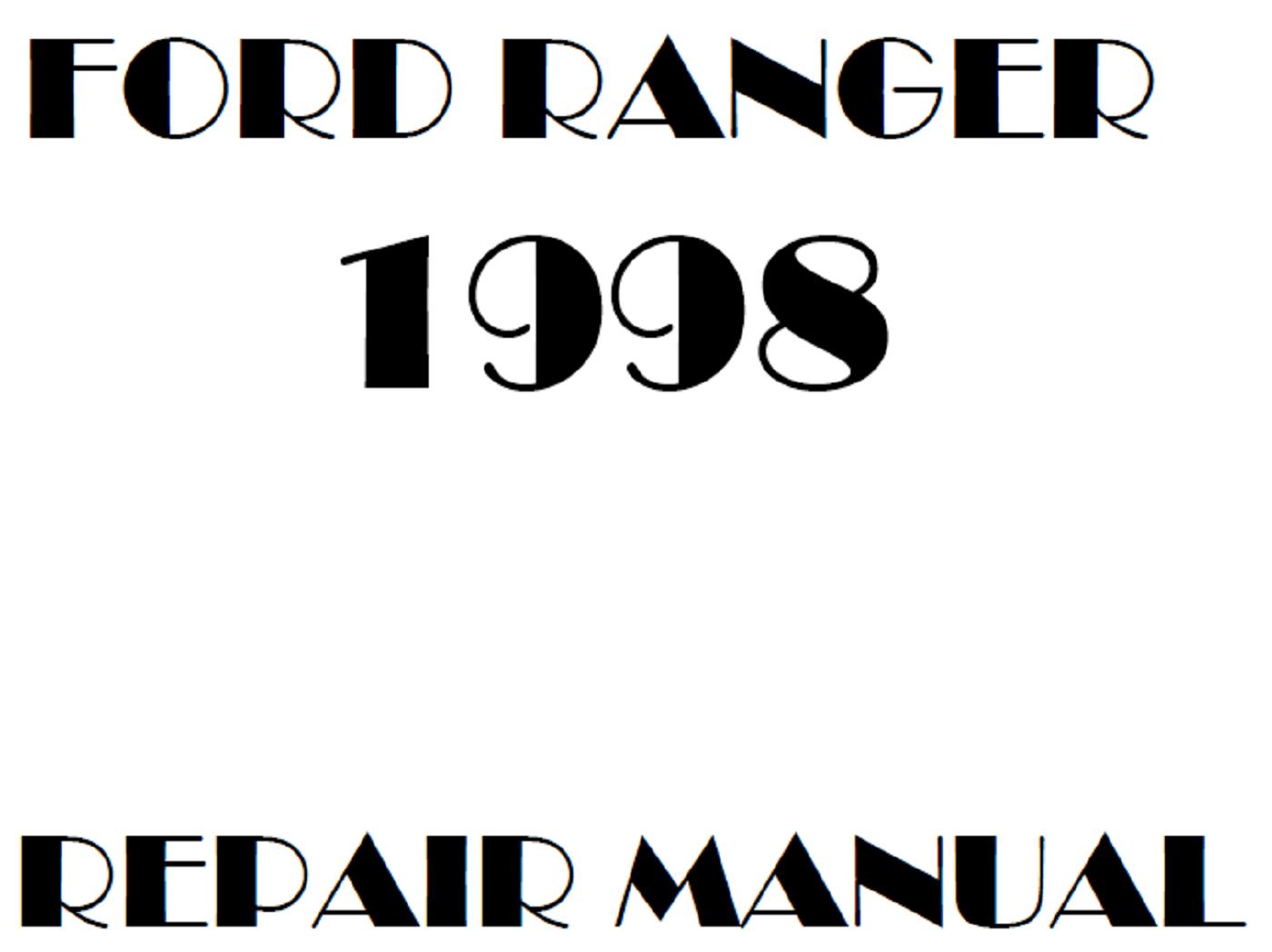 1998 Ford Ranger repair manual