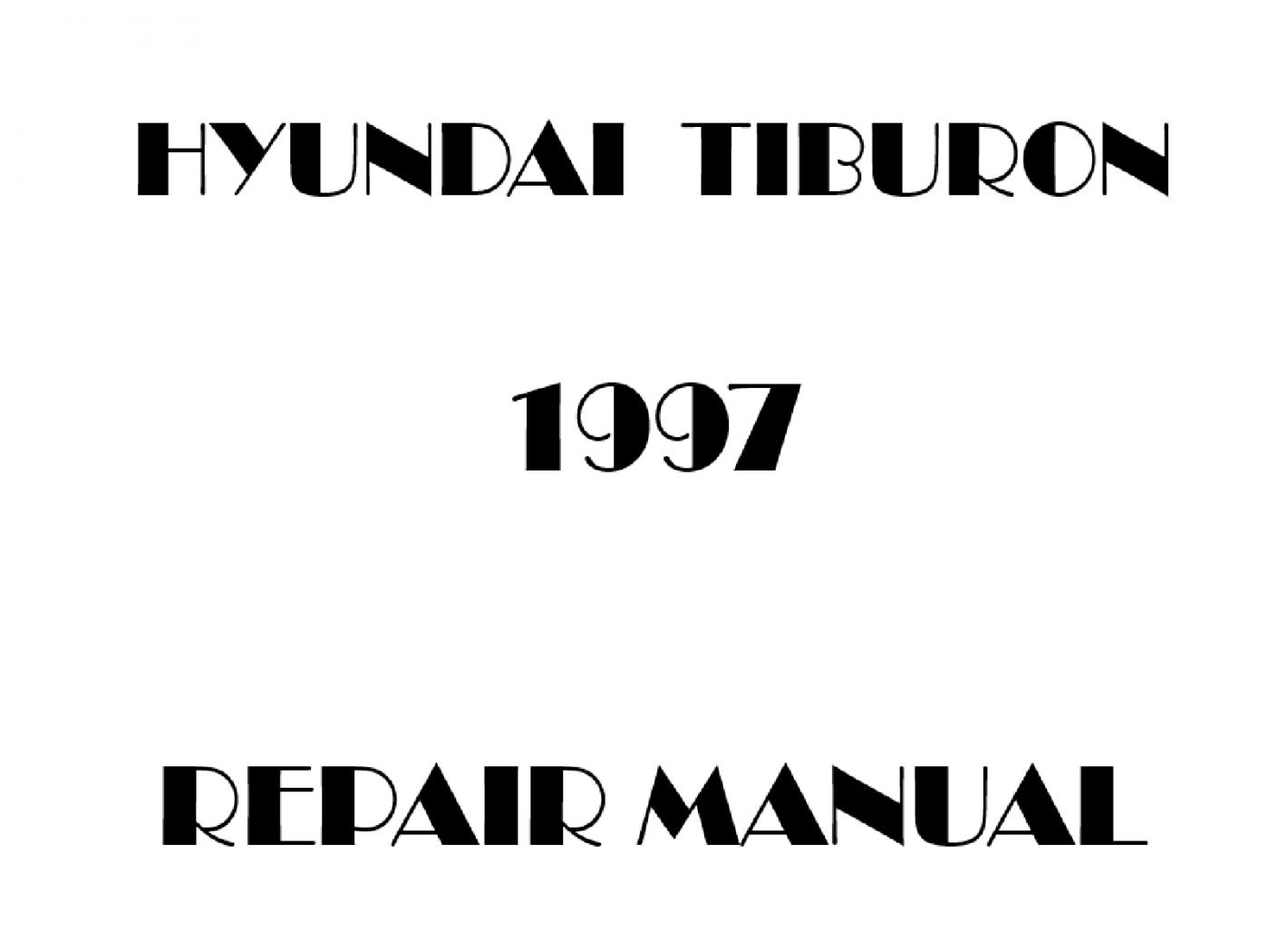 1997 Hyundai Tiburon repair manual