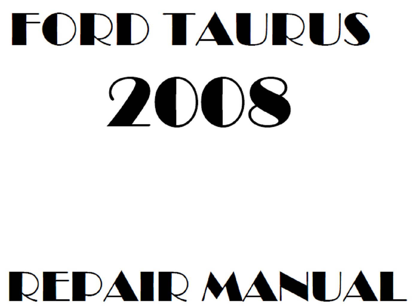 2008 Ford Taurus repair manual