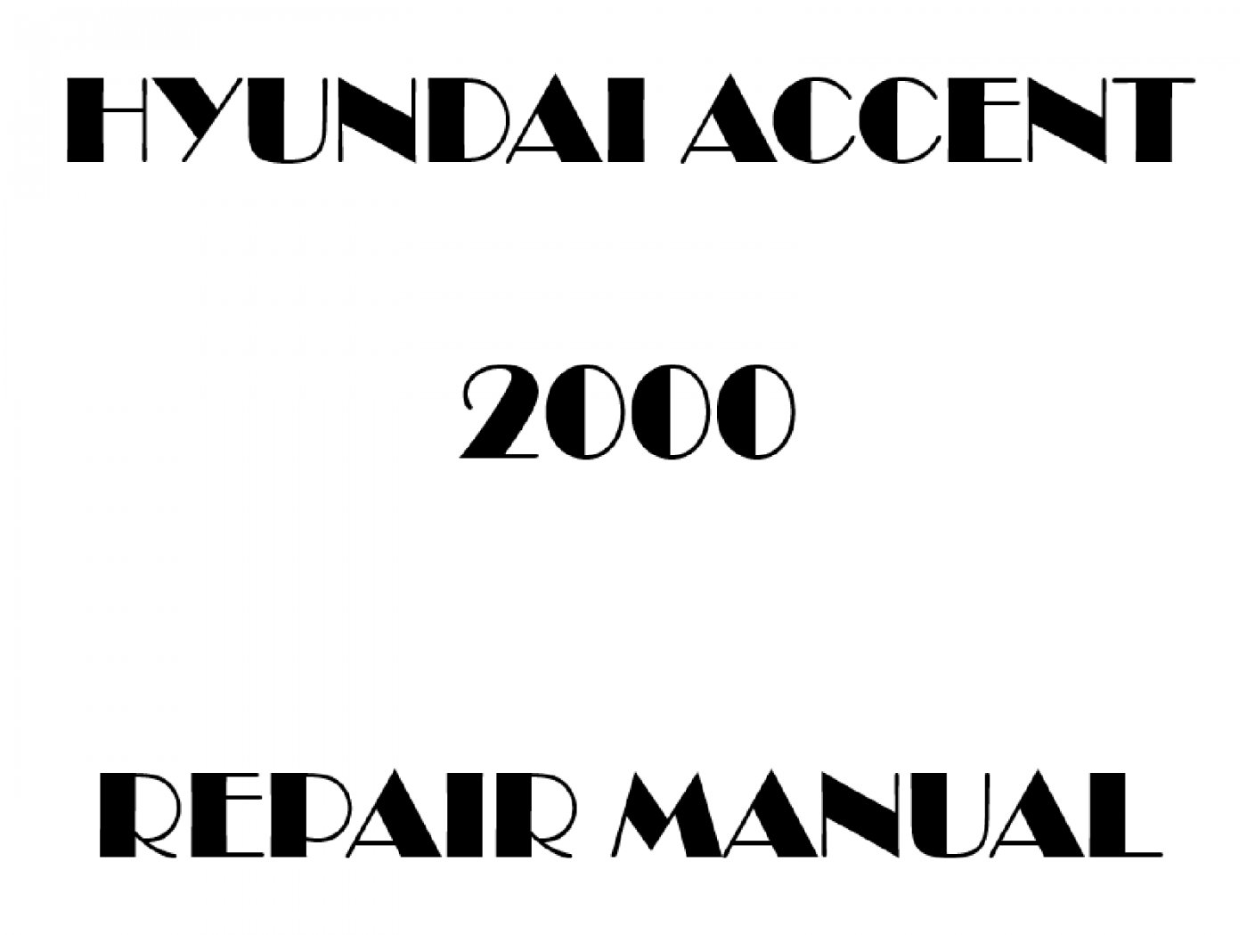 2000 Hyundai Accent repair manual