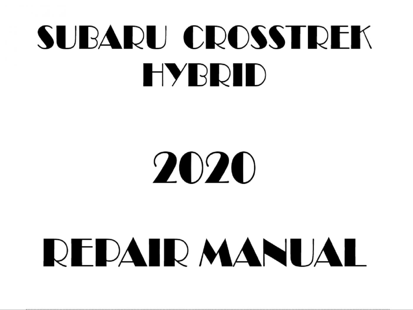 2020 Subaru Crosstrek Hybrid repair manual