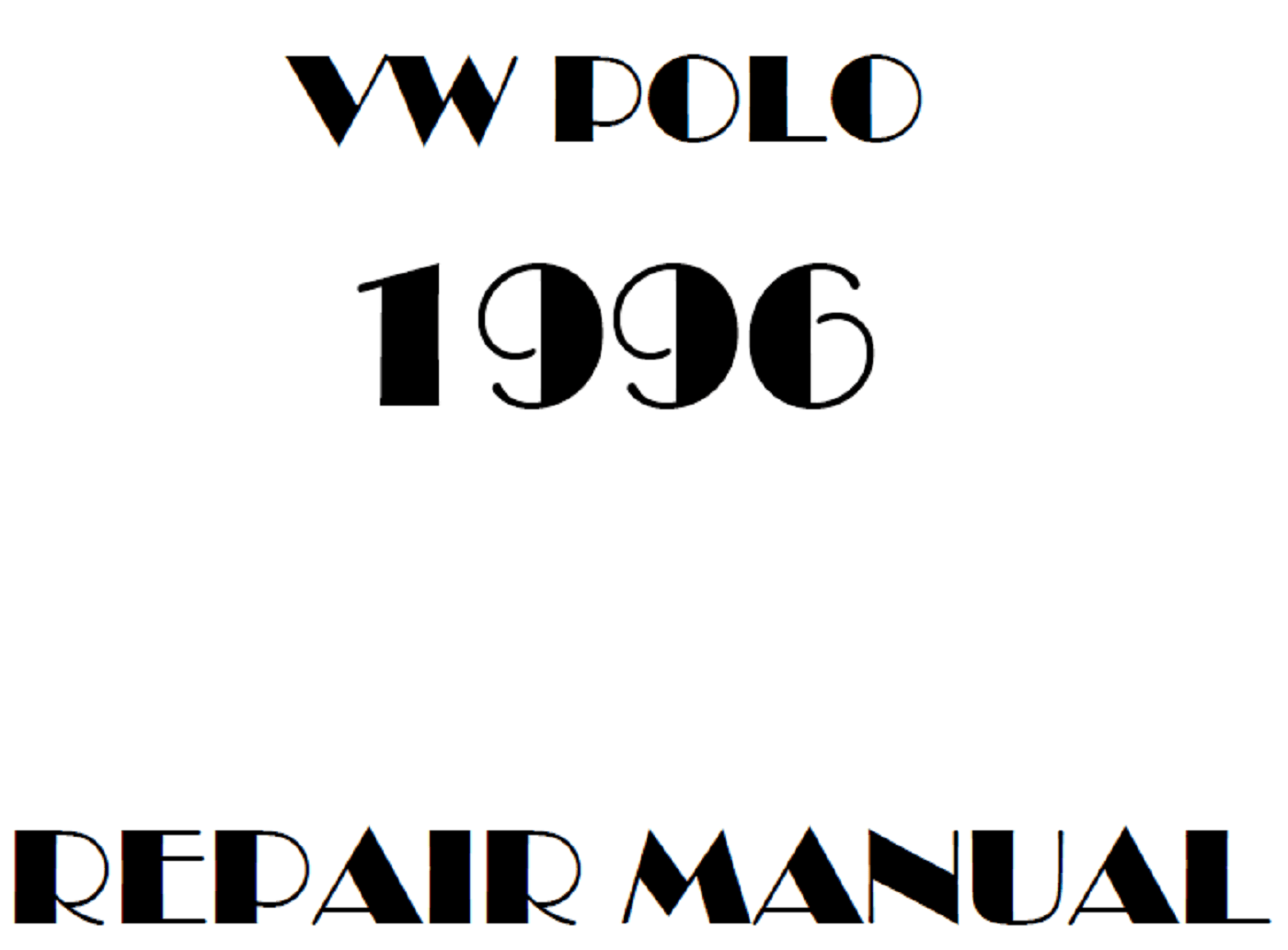 1996 Volkswagen Polo repair manual