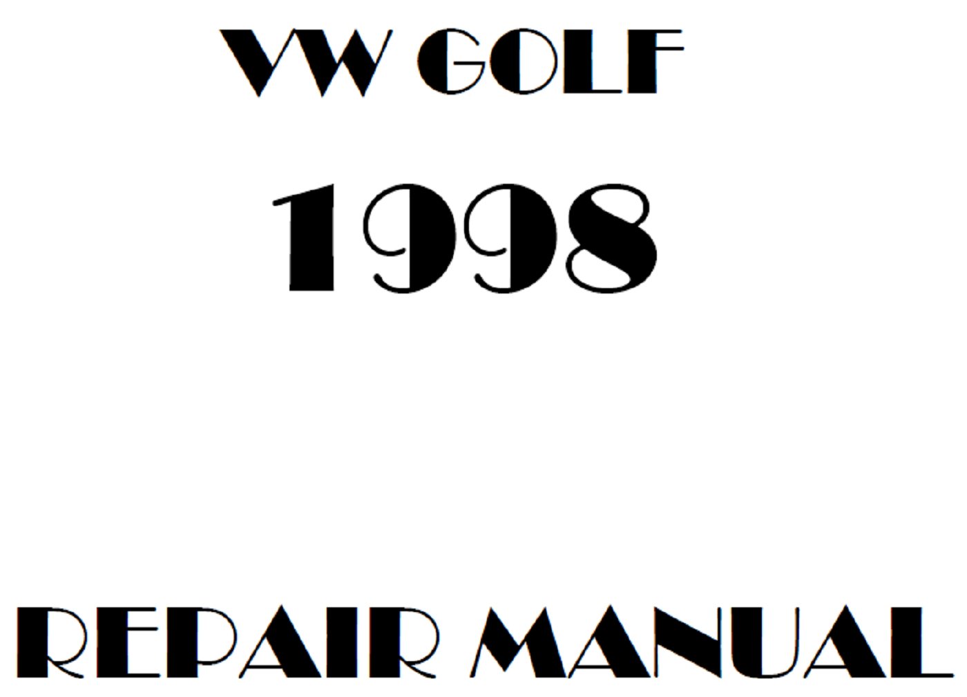 1998 Volkswagen Golf repair manual
