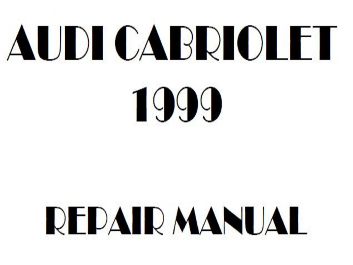 1999 Audi Cabriolet repair manual