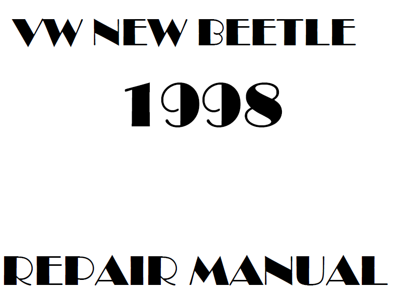 1998 Volkswagen New Beetle repair manual