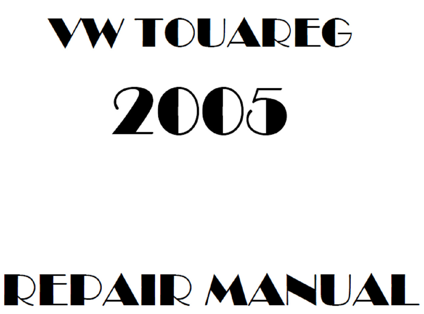2005 Volkswagen Touareg repair manual