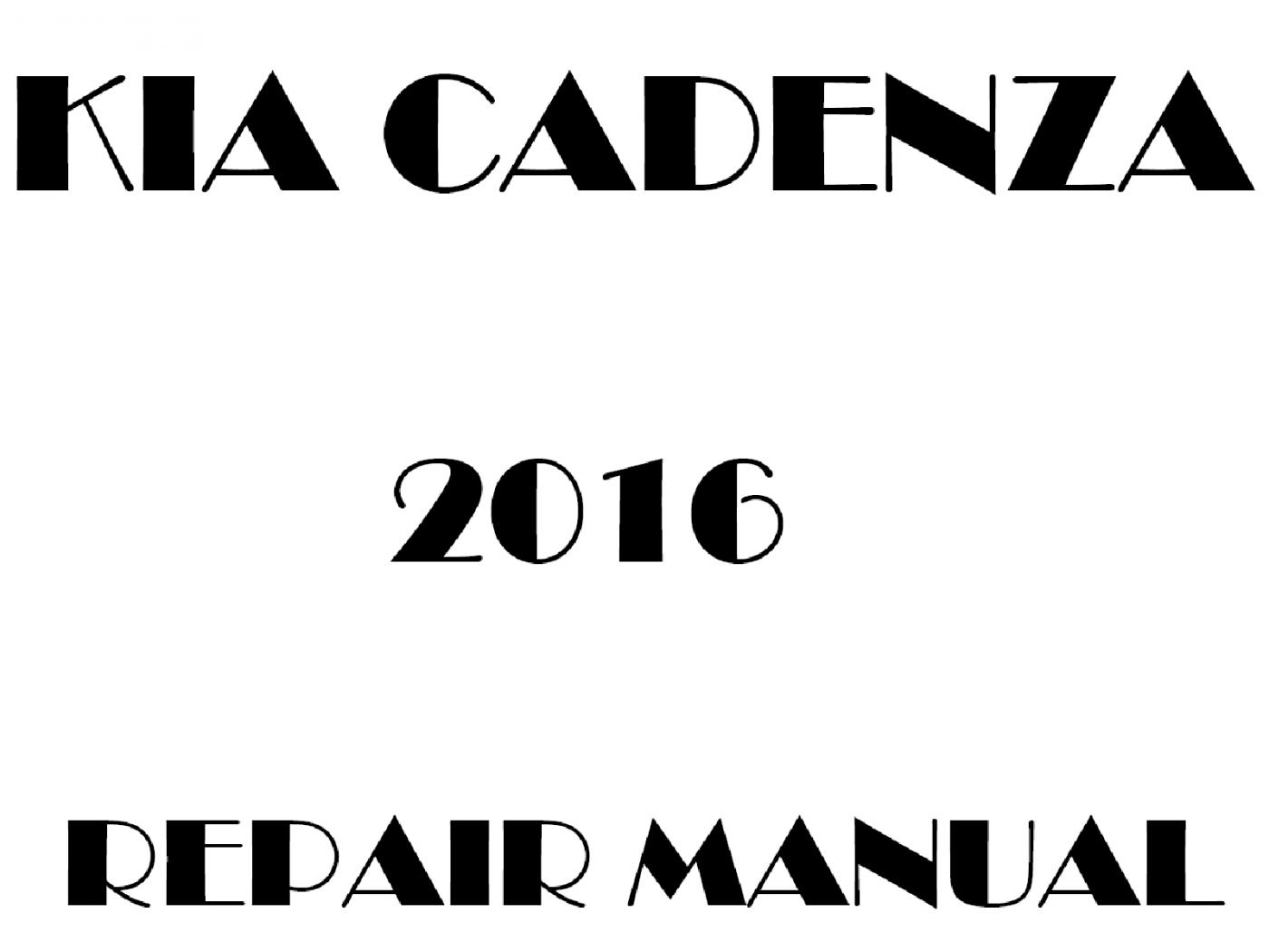 2016 Kia Cadenza repair manual