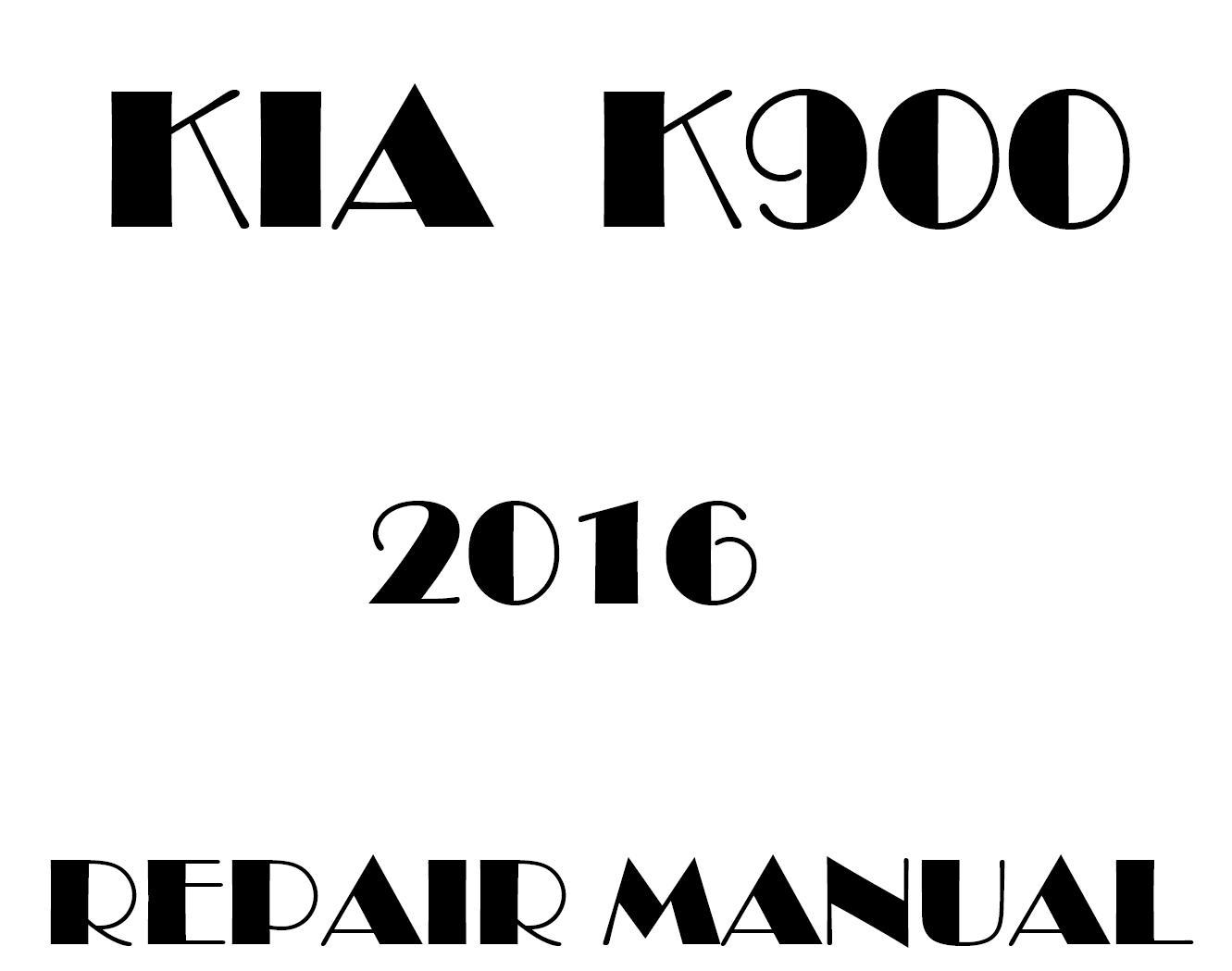 2016 Kia K900 repair manual