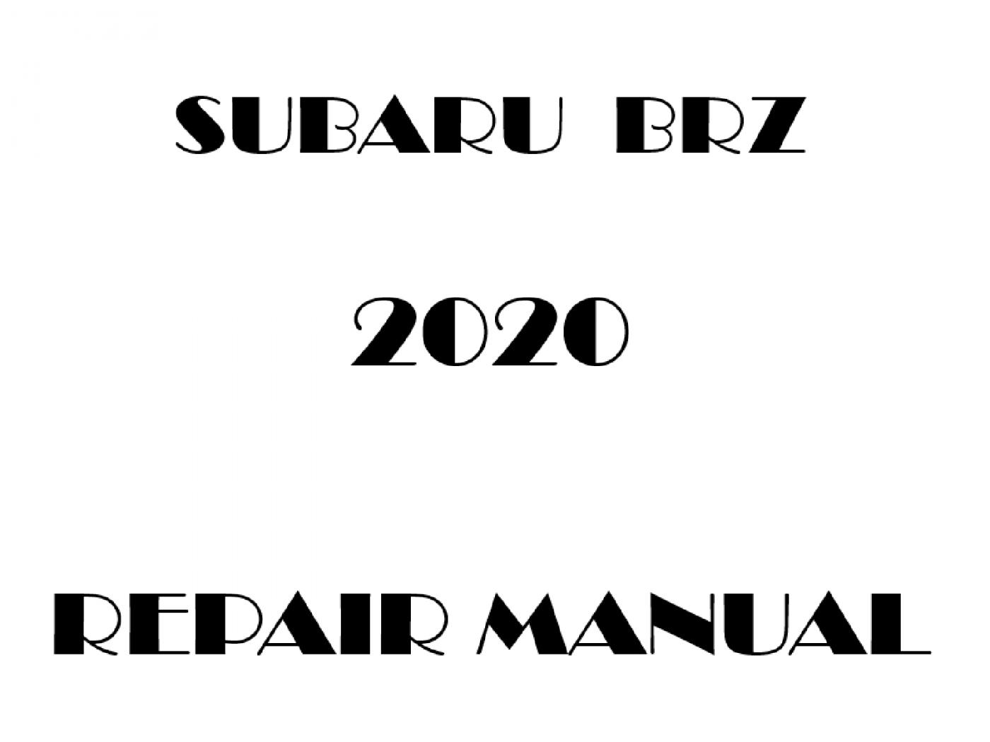 2020 Subaru BRZ repair manual