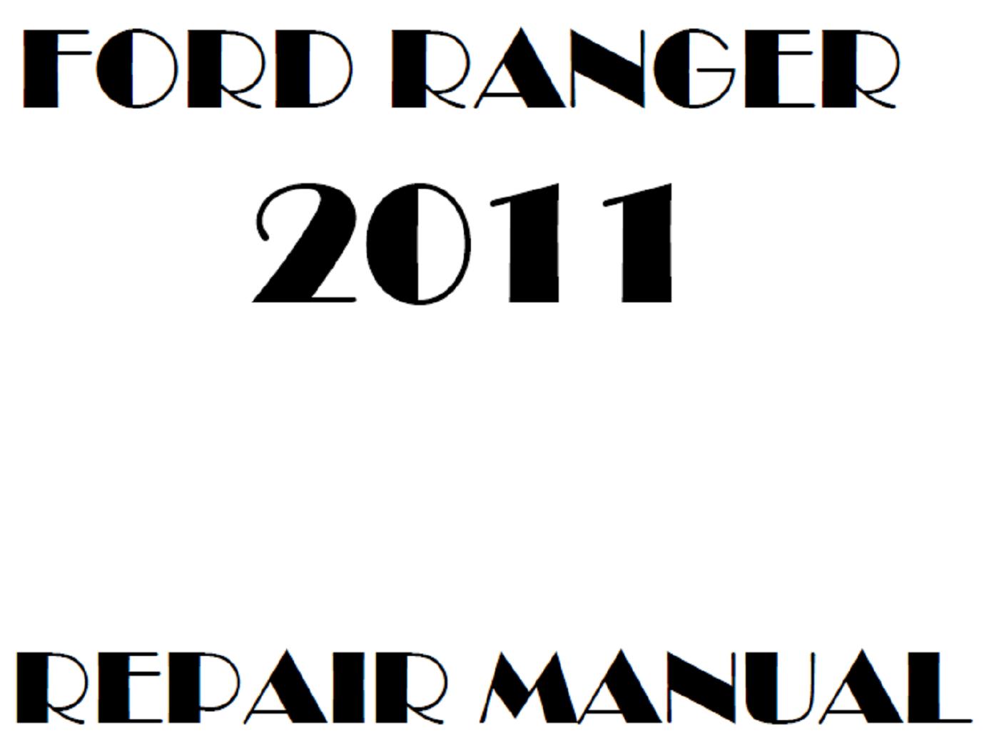 2011 Ford Ranger repair manual