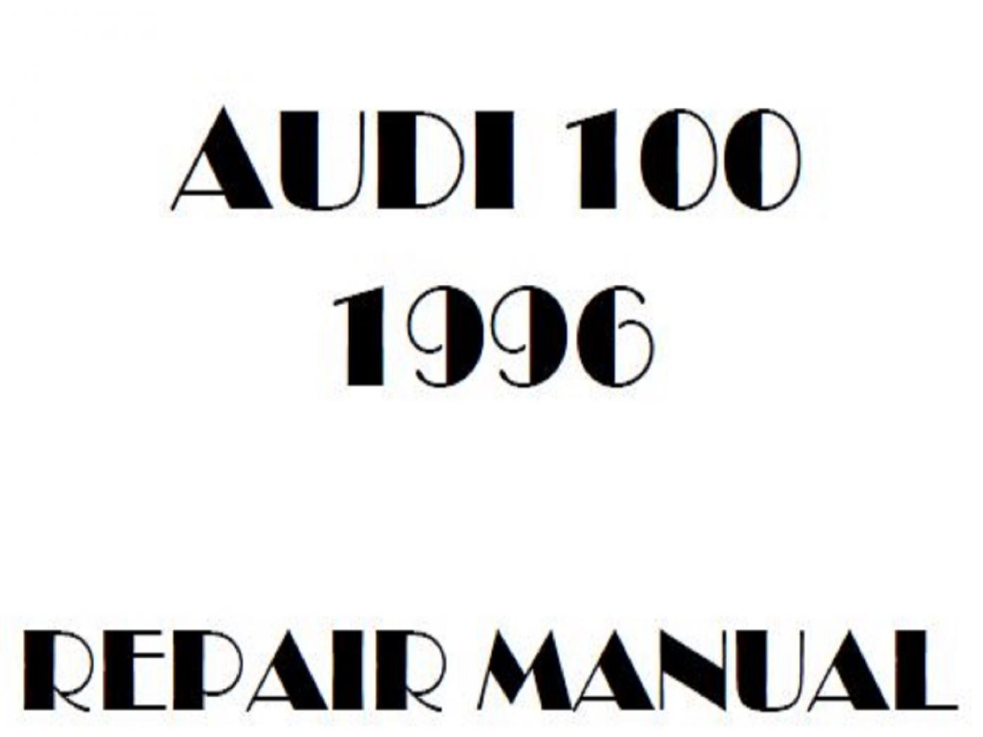 1996 Audi 100 repair manual