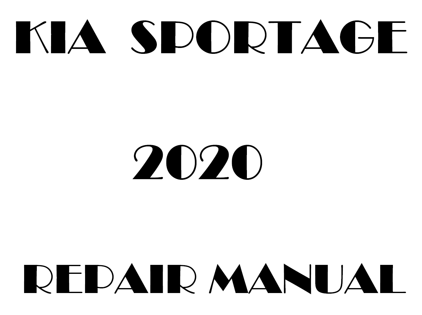 2020 Kia Sportage repair manual