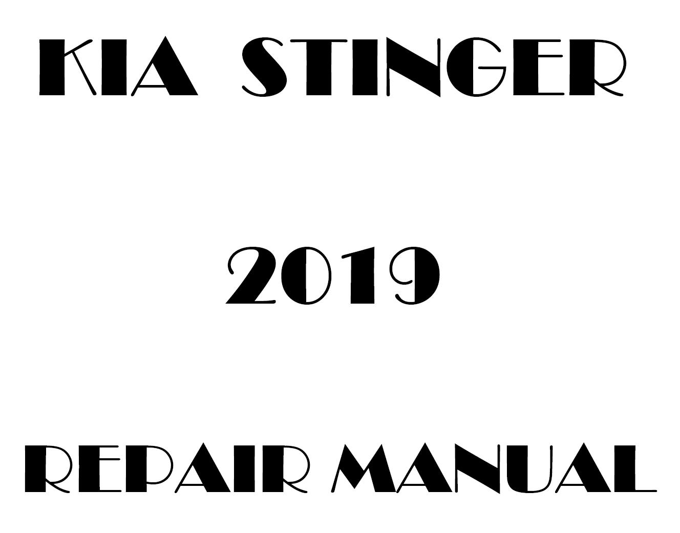 2019 Kia Stinger factory repair manual