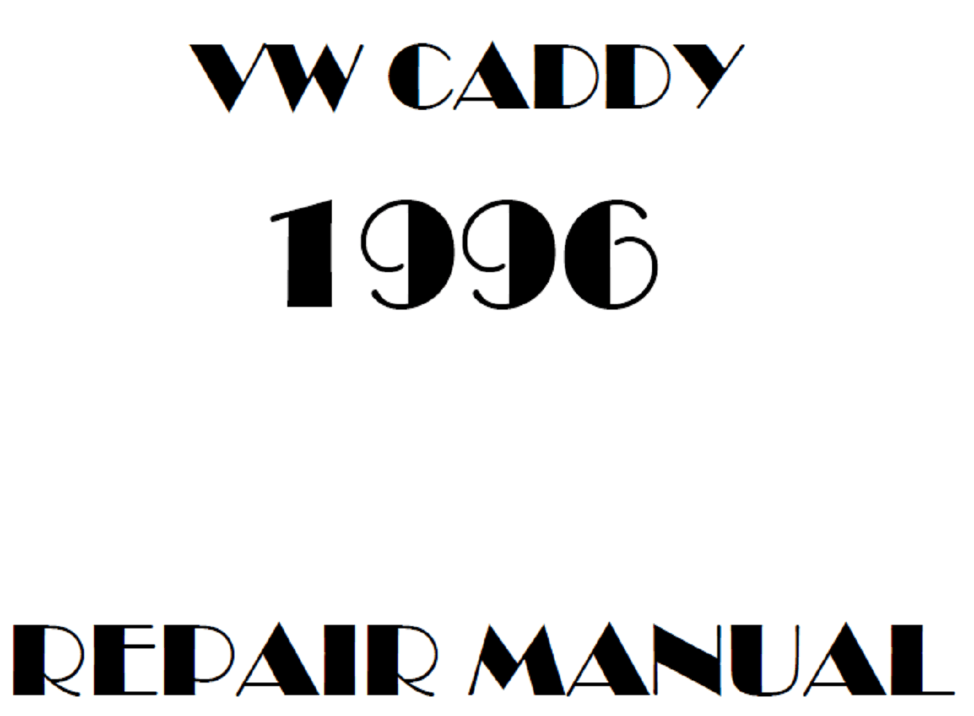 1996 Volkswagen Caddy repair manual