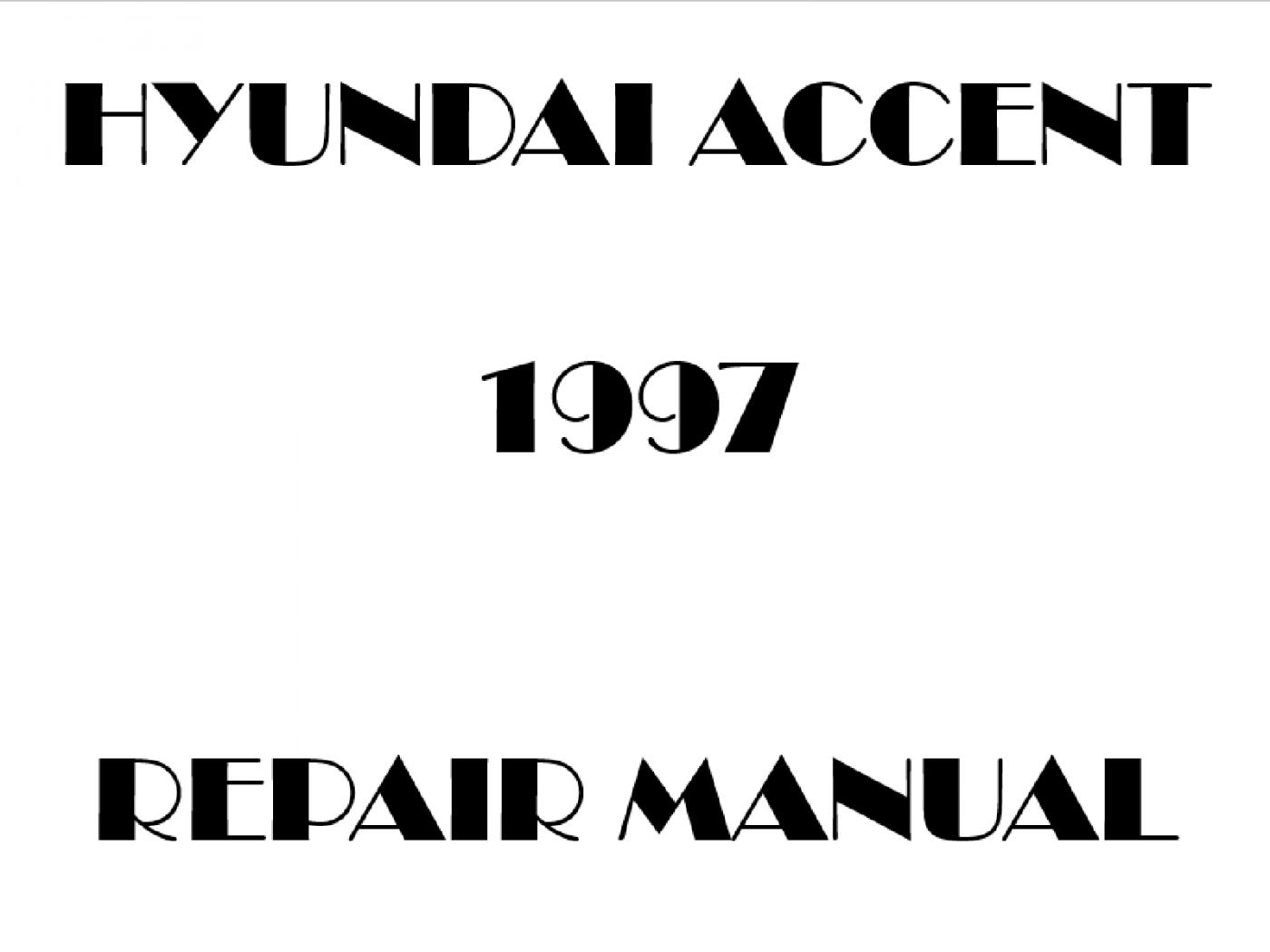 1997 Hyundai Accent repair manual