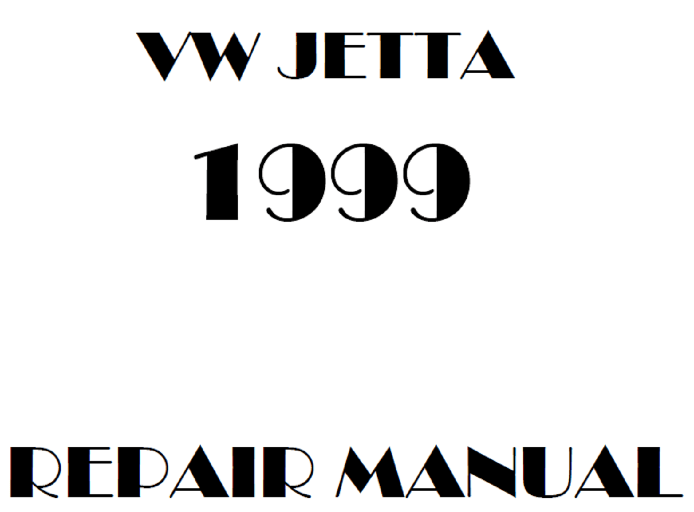 1999 Volkswagen Jetta repair manual