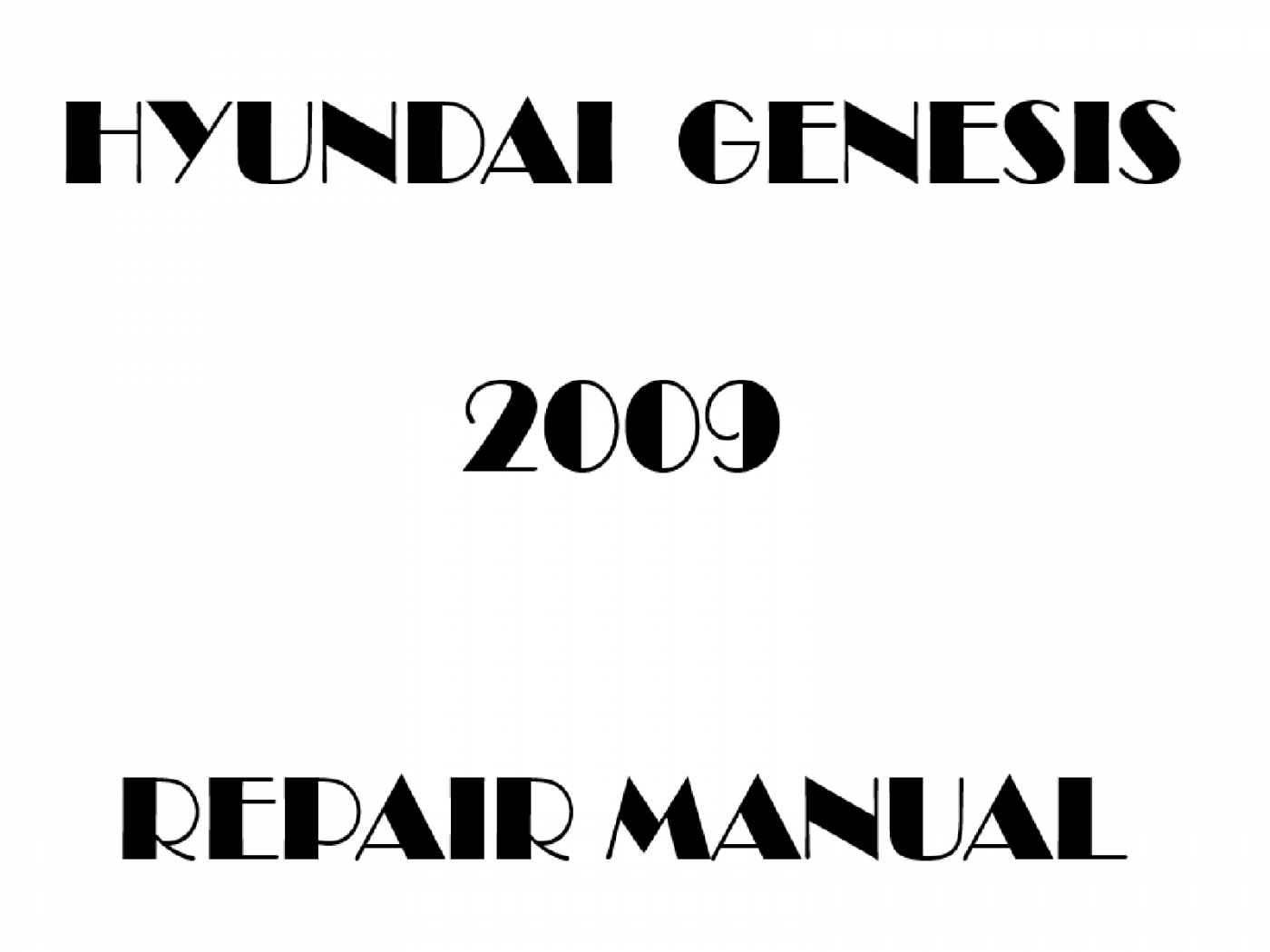 2009 Hyundai Genesis repair manual