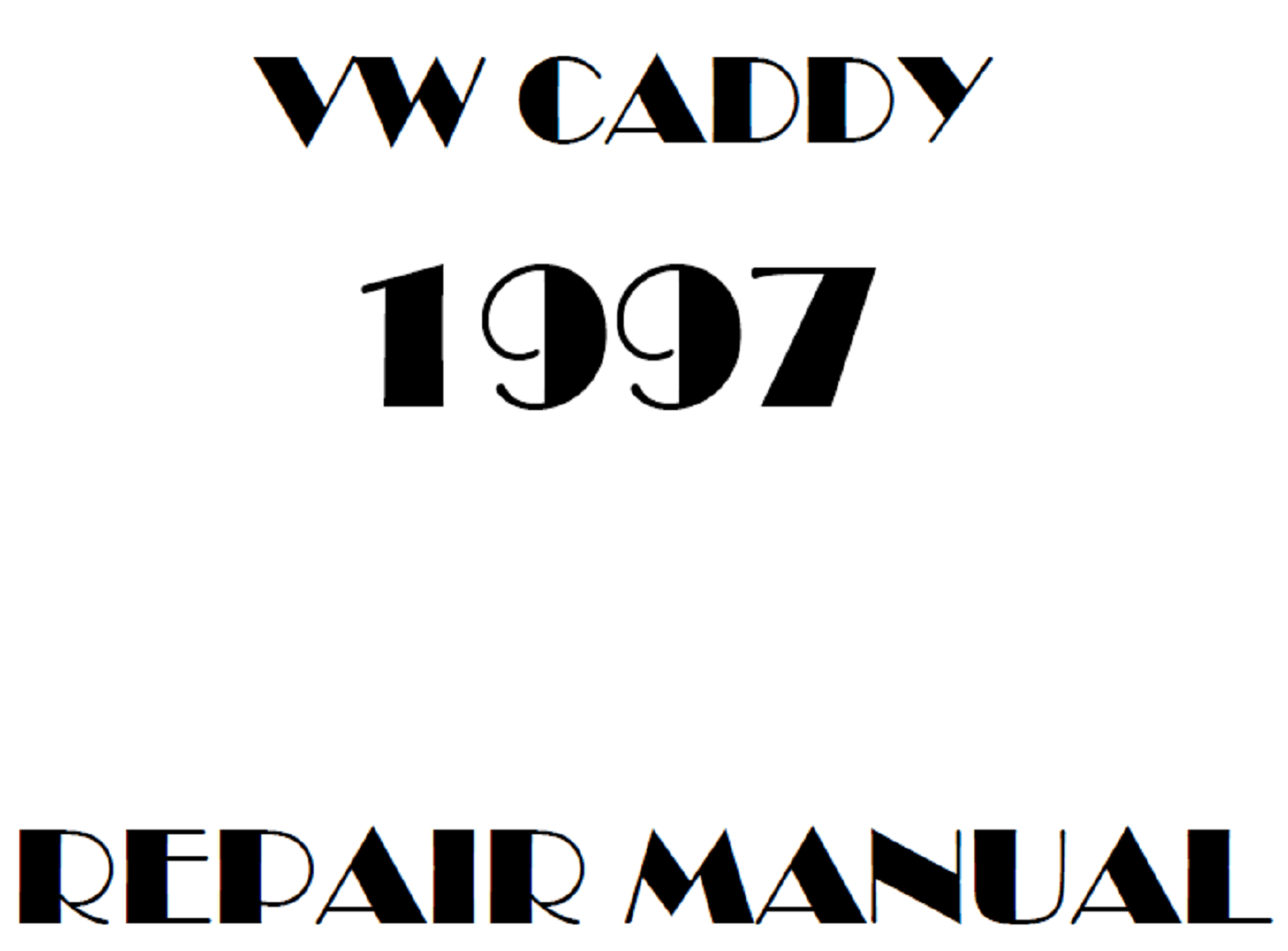 1997 Volkswagen Caddy repair manual
