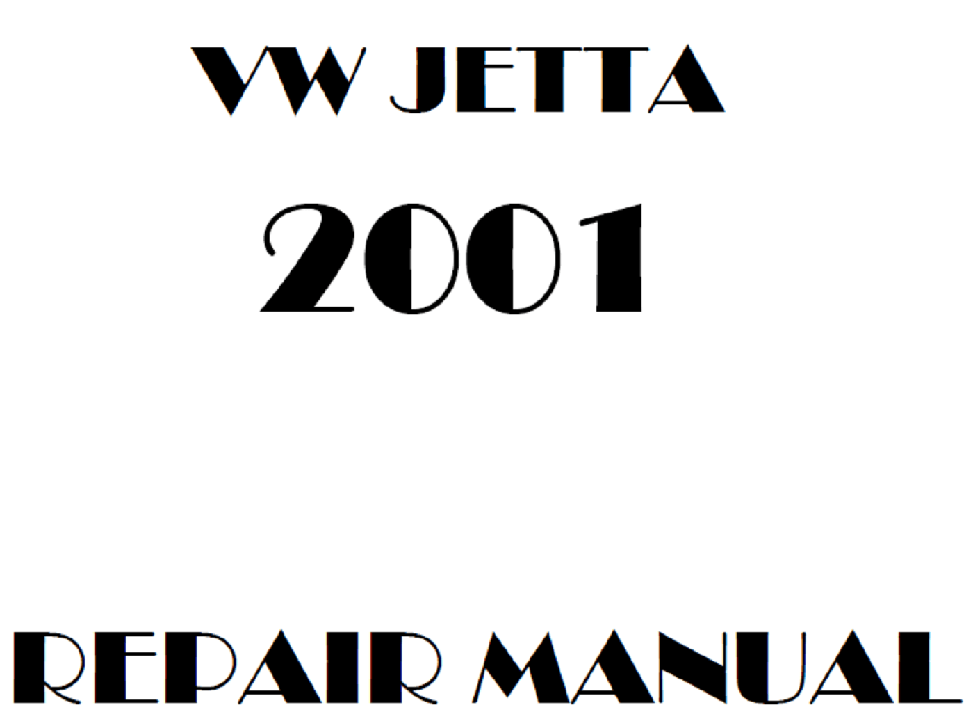 2001 Volkswagen Jetta repair manual