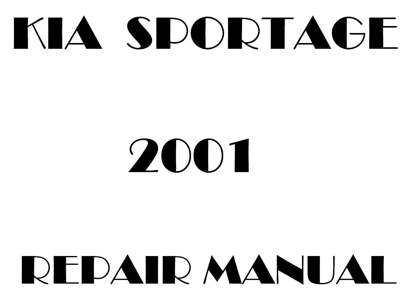 2001 Kia Sportage repair manual