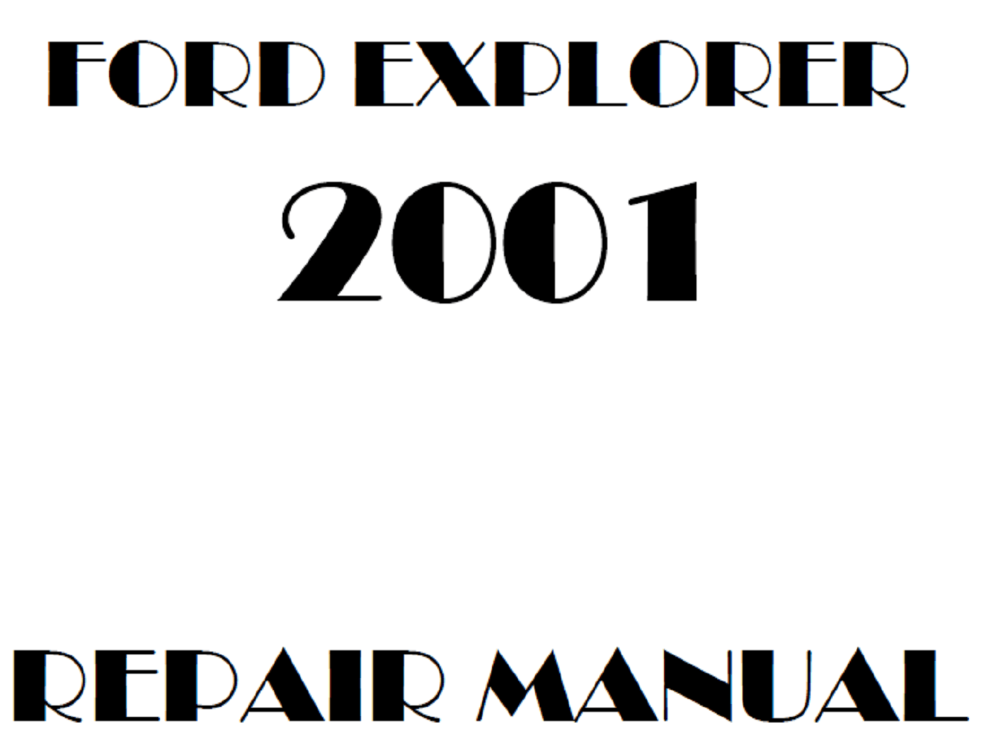 2001 Ford Explorer repair manual