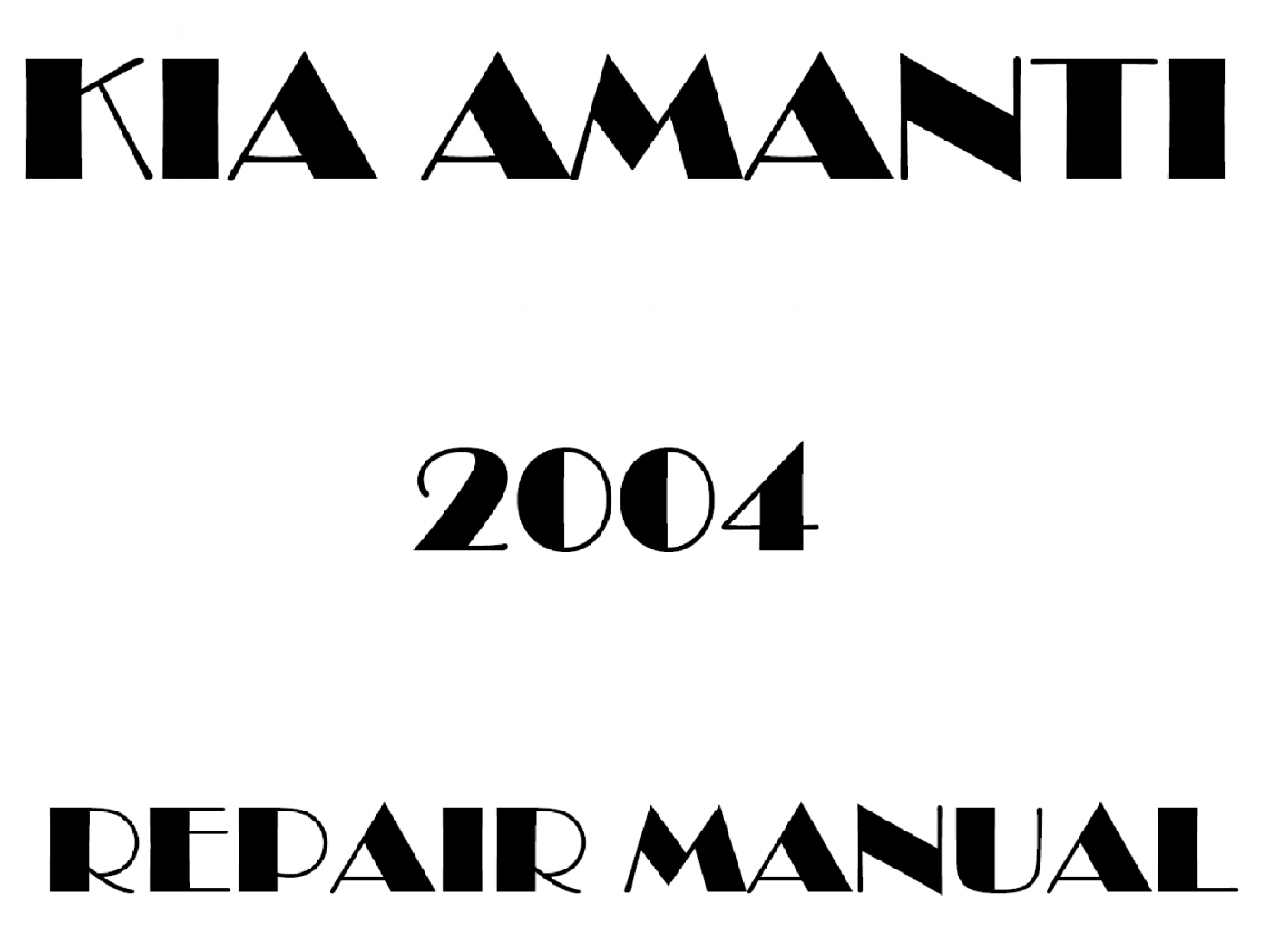 2004 Kia Amanti repair manual