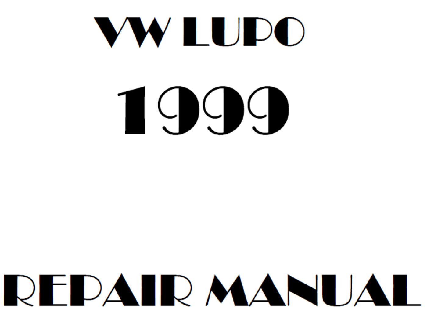 1999 Volkswagen Lupo repair manual