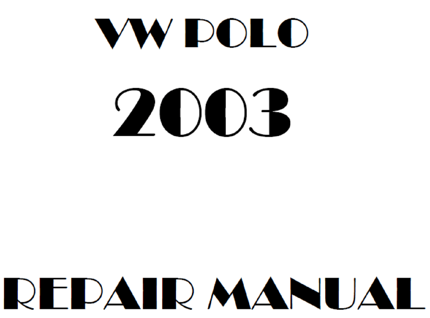 2003 Volkswagen Polo repair manual