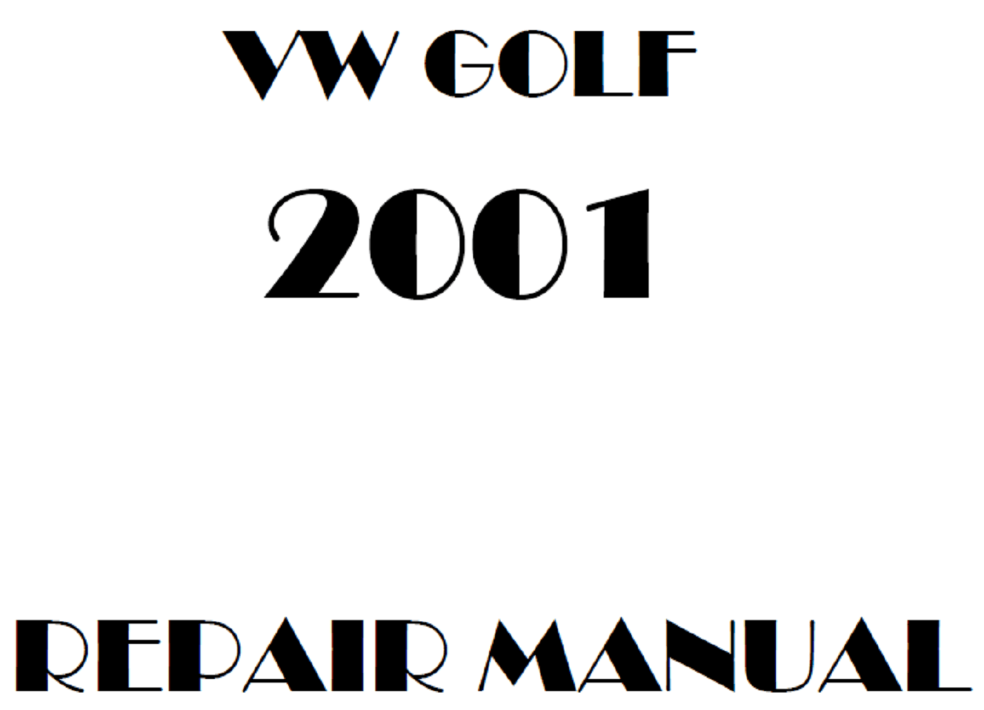 2001 Volkswagen Golf repair manual