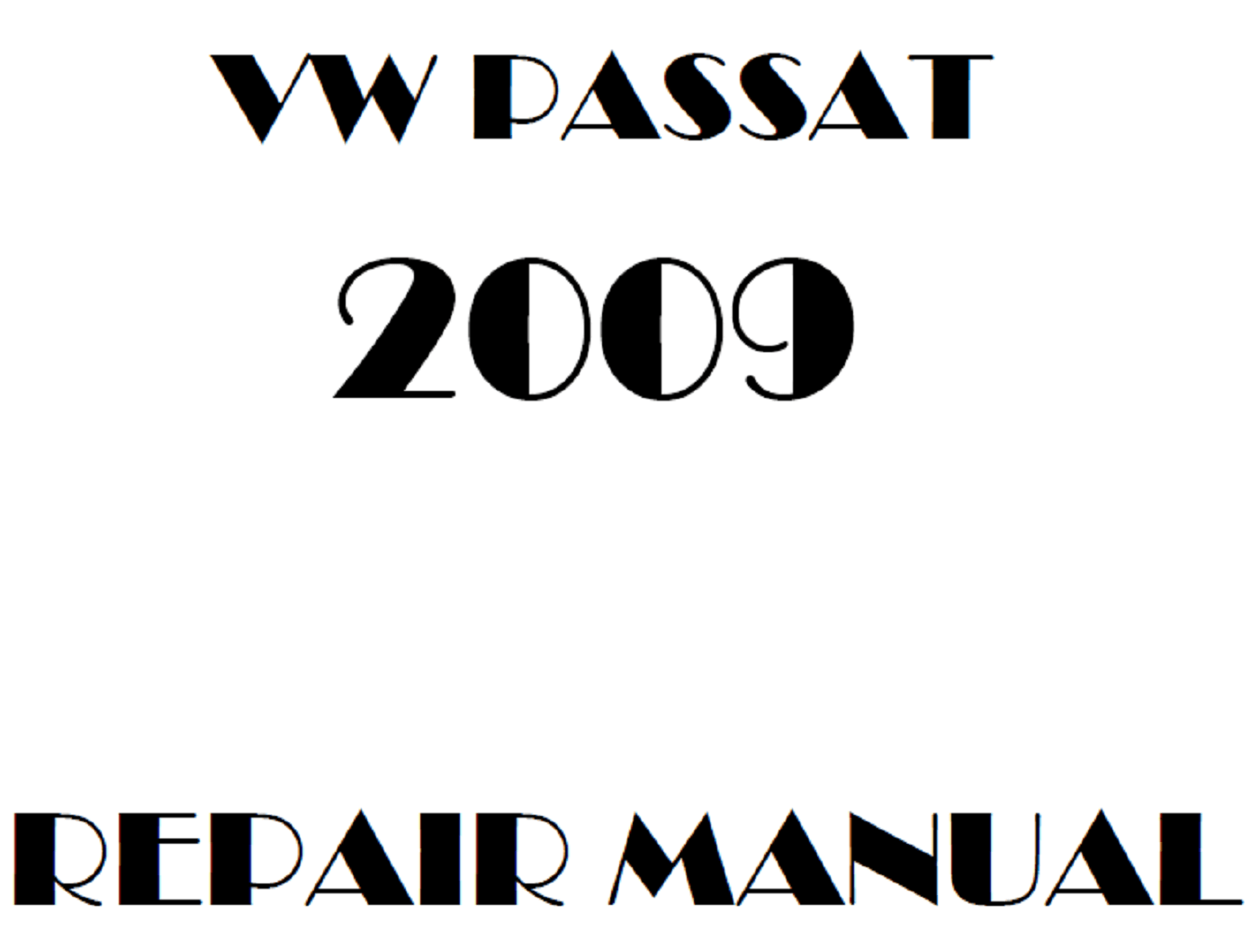 2009 Volkswagen Passat repair manual