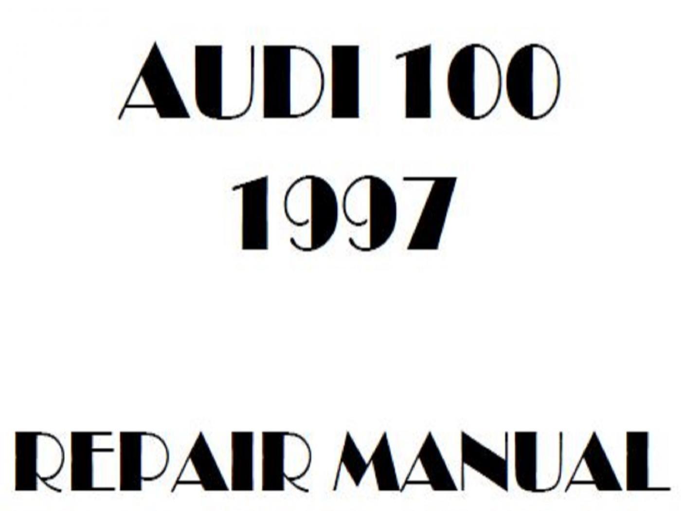 1997 Audi 100 repair manual
