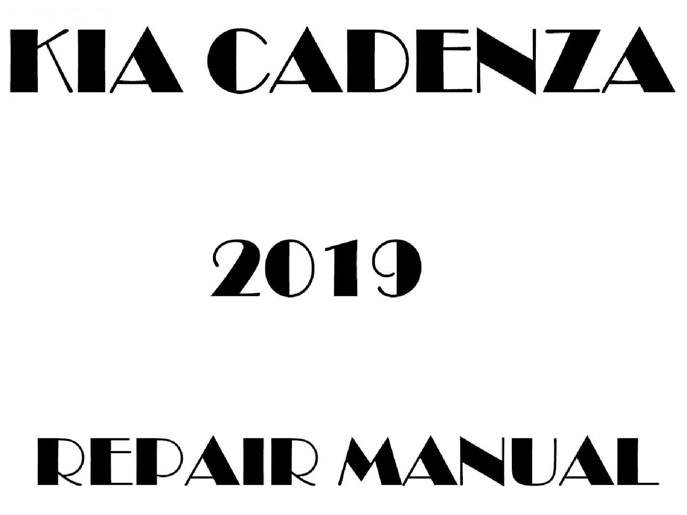 2019 Kia Cadenza repair manual
