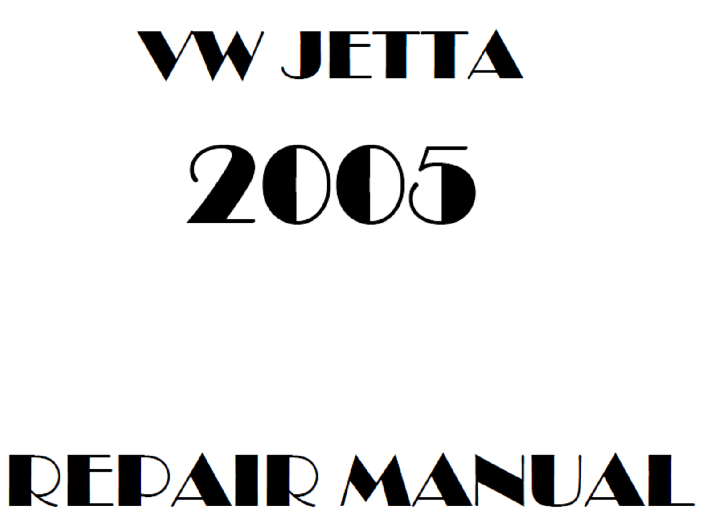 2005 Volkswagen Bora/Jetta repair manual