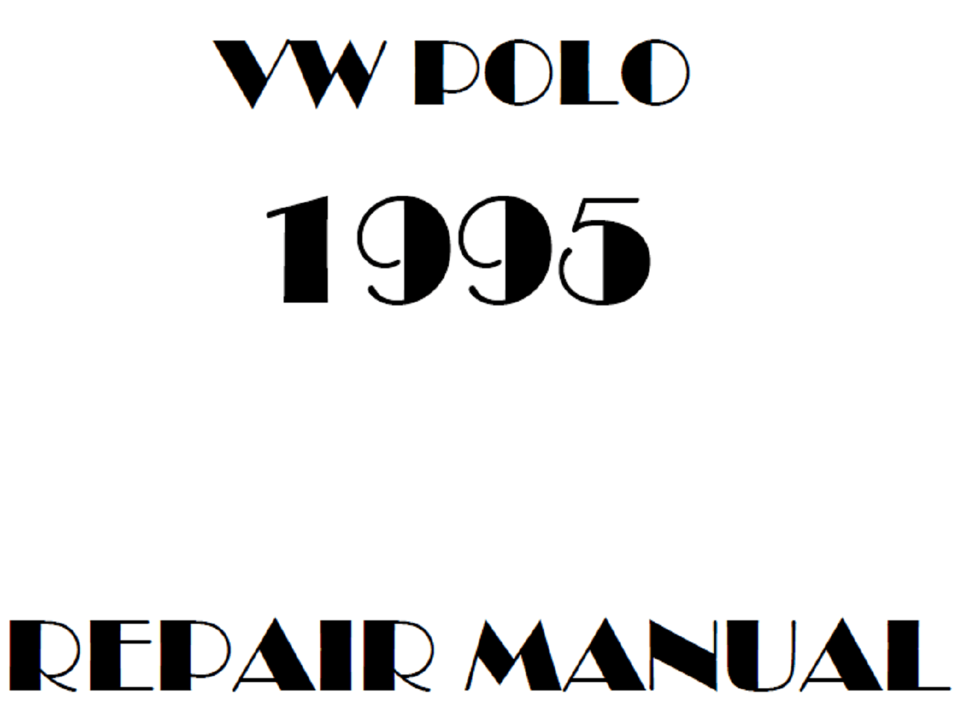 1995 Volkswagen Polo repair manual