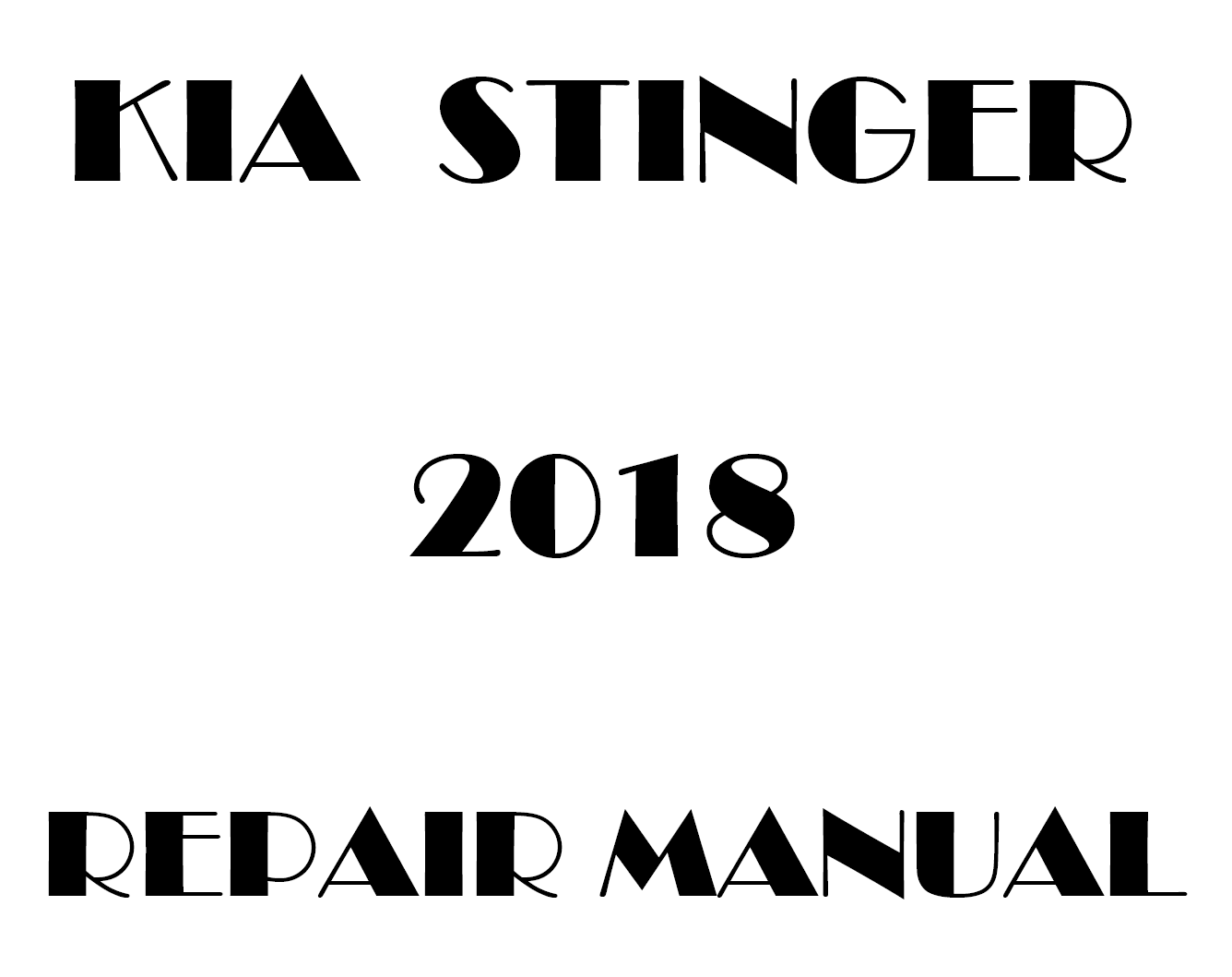2018 Kia Stinger factory repair manual