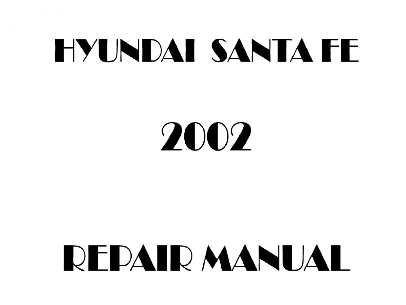 2002 Hyundai Santa Fe repair manual