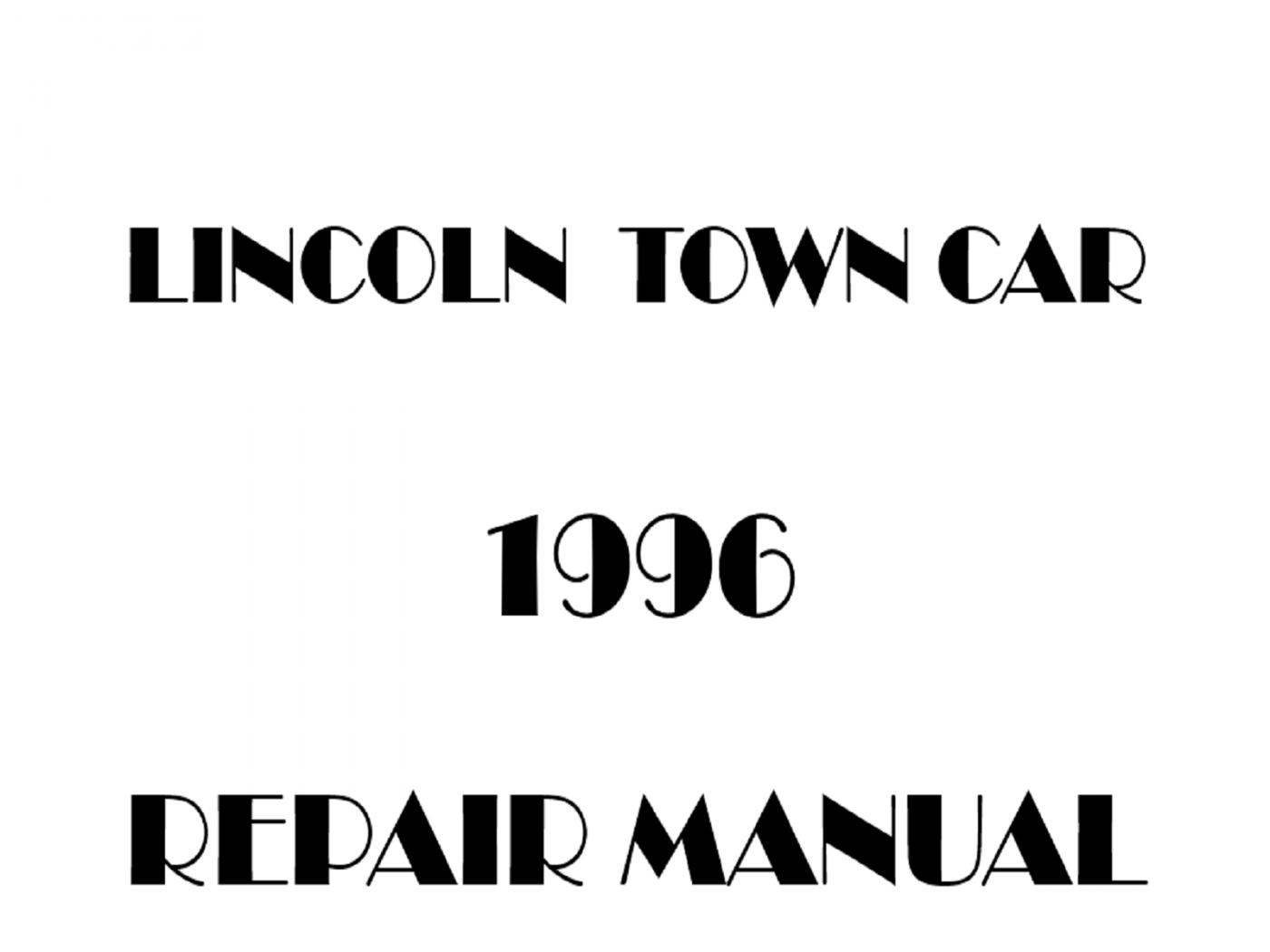 1996 Lincoln Town Car repair manual