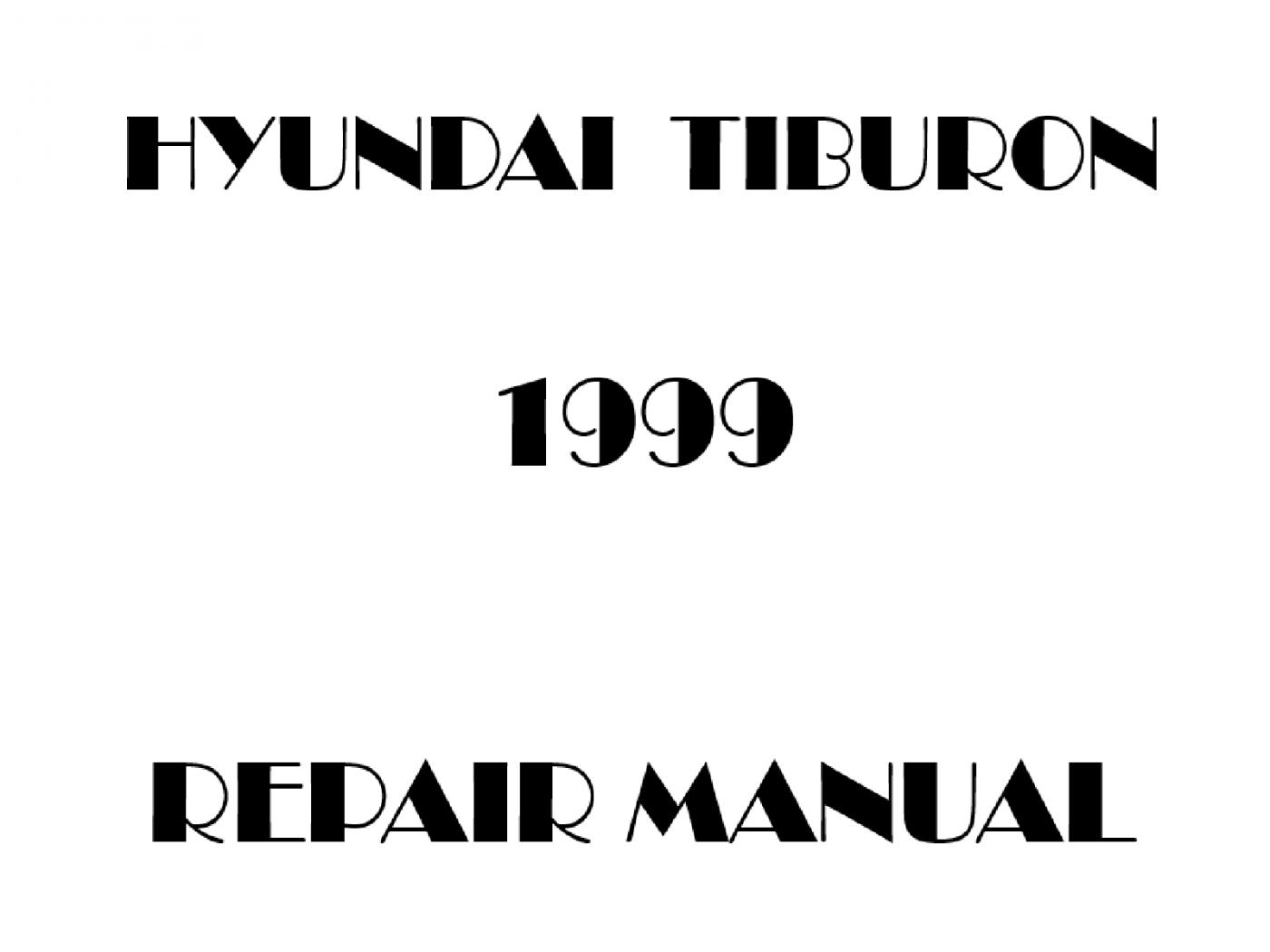 1999 Hyundai Tiburon repair manual