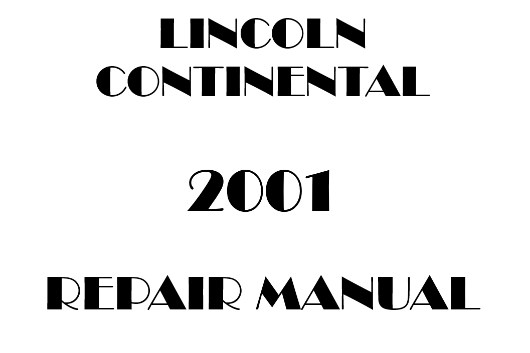 2001 Lincoln Continental repair manual