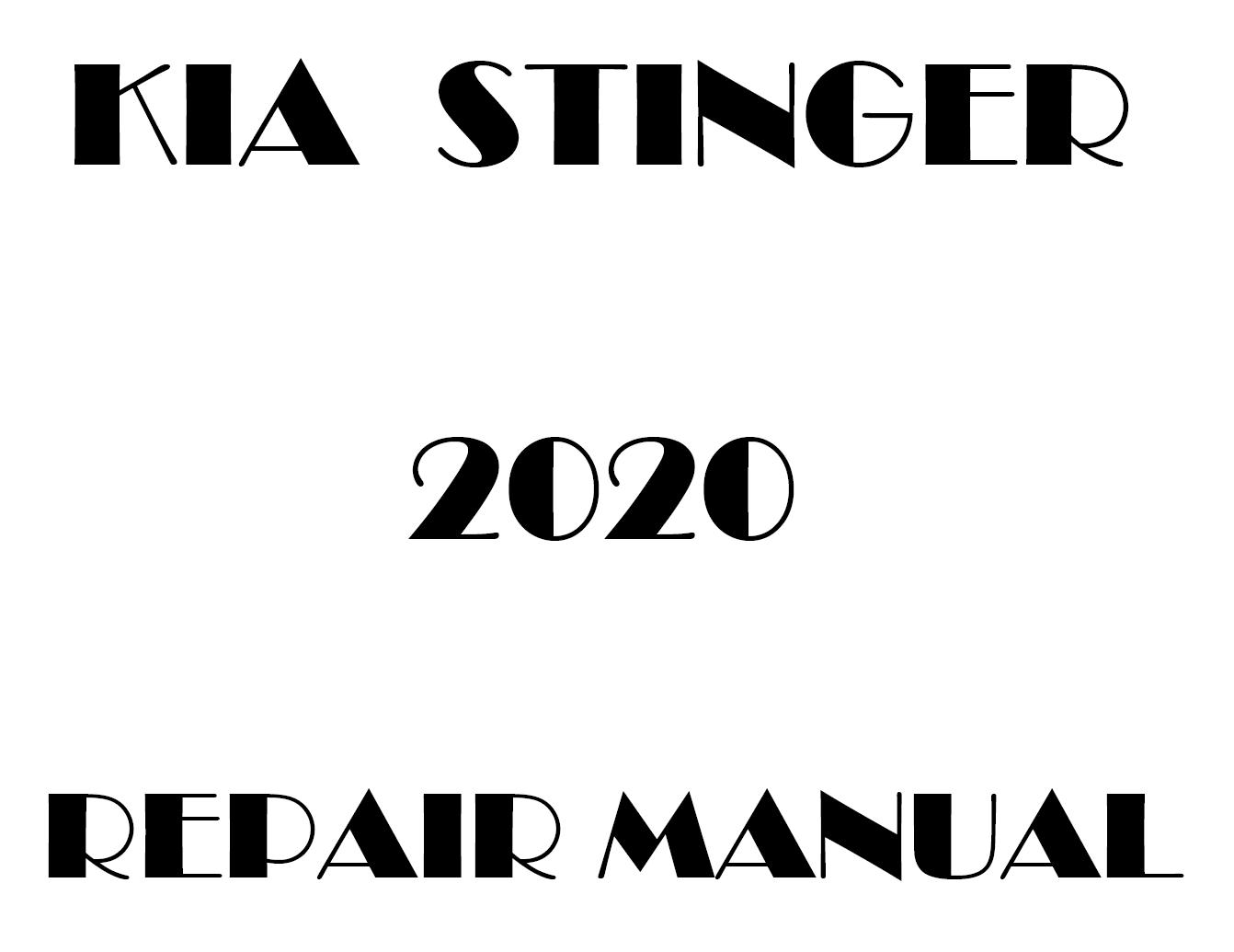 2020 Kia Stinger factory repair manual