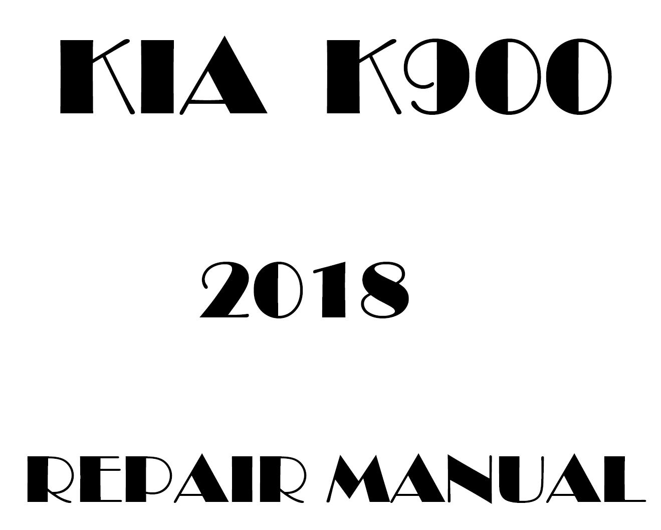 2018 Kia K900 factory repair manual