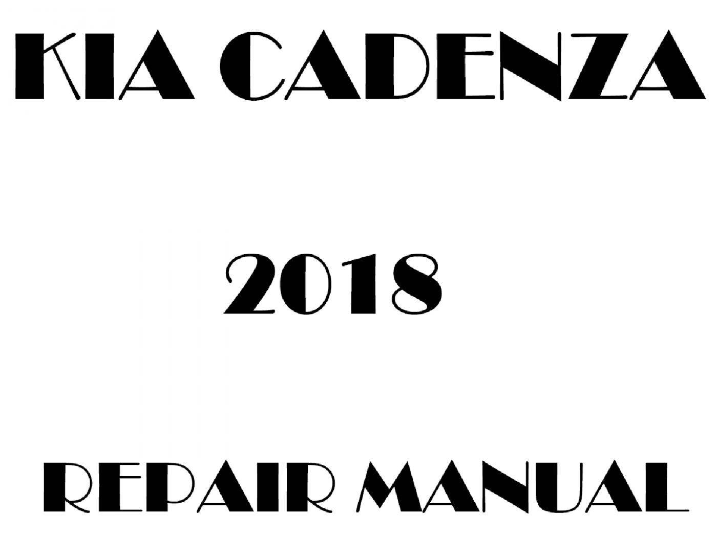 2018 Kia Cadenza repair manual