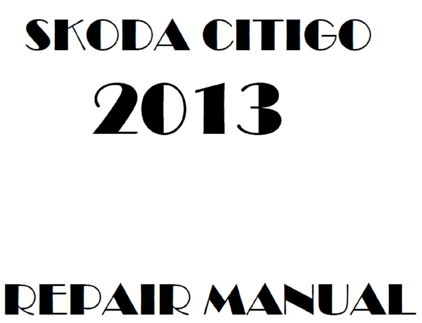 2013 Skoda Citigo repair manual