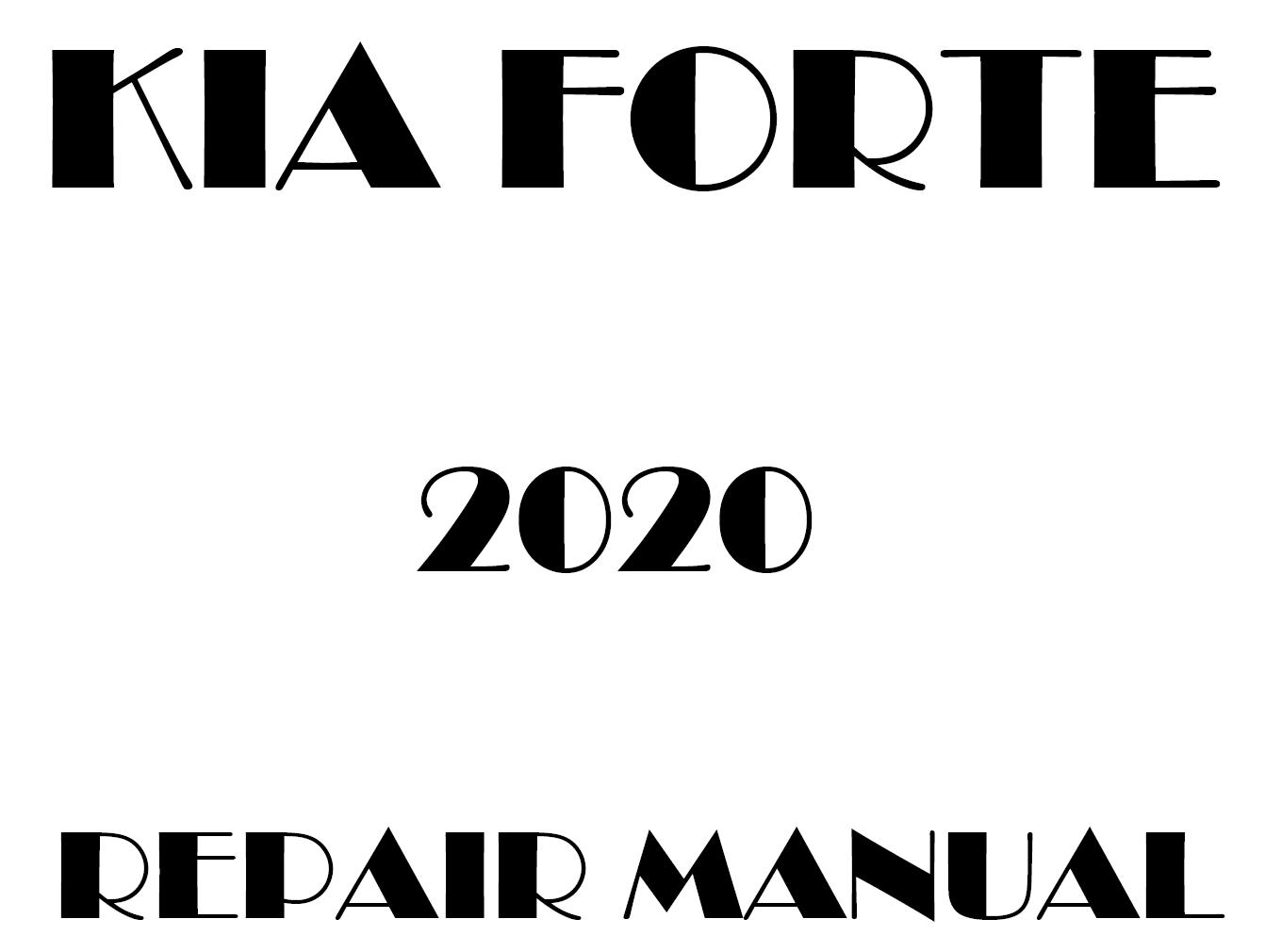 2020 Kia Forte repair manual
