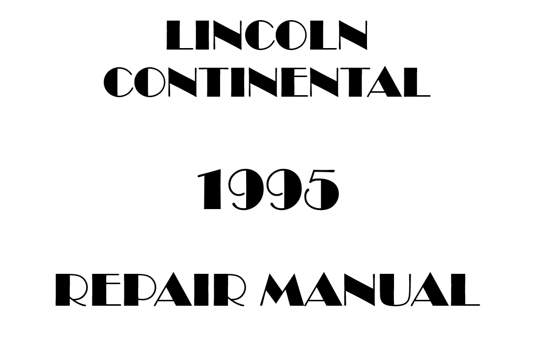 1995 Lincoln Continental repair manual