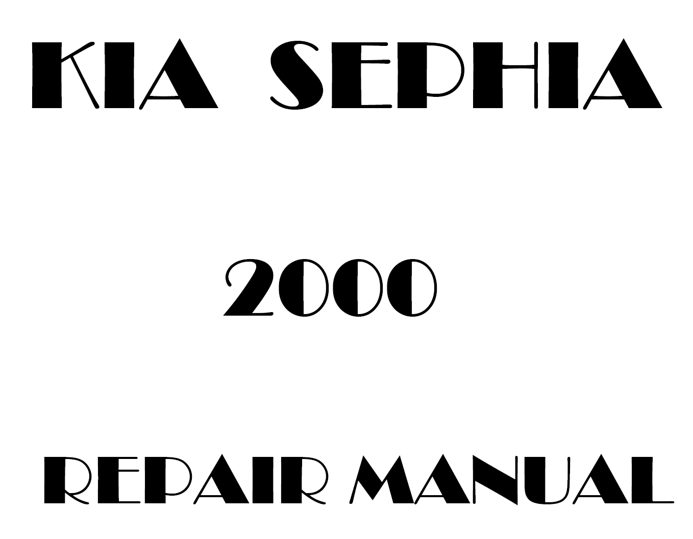 2000 Kia Sephia repair manual