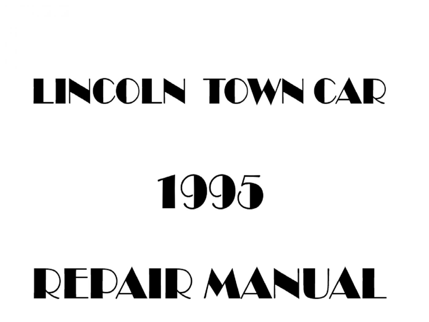 1995 Lincoln Town Car repair manual