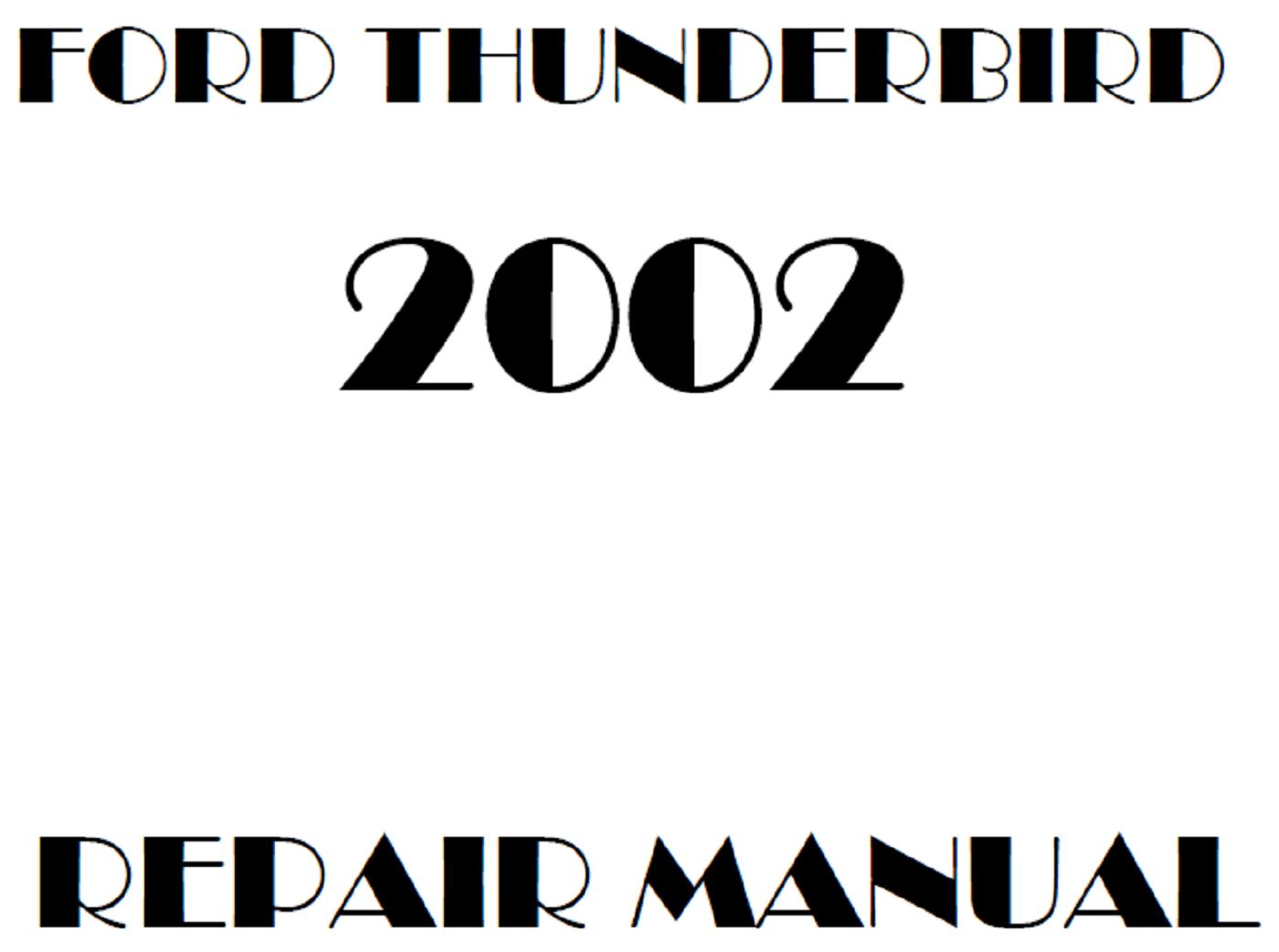 2002 Ford Thunderbird repair manual