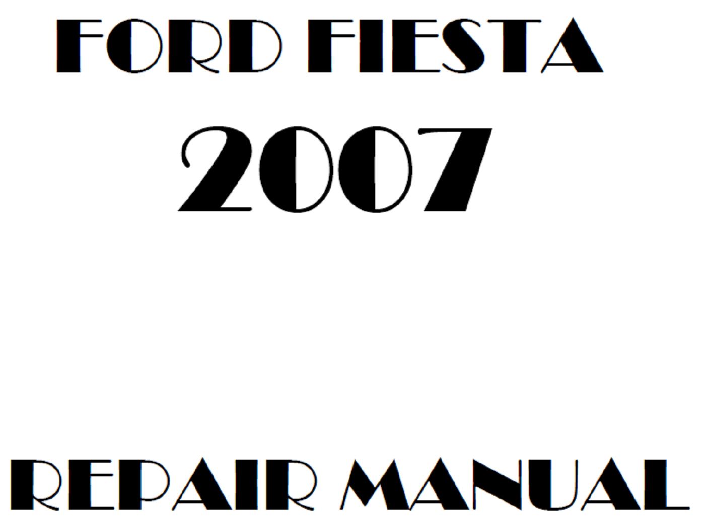 2007 Ford Fiesta repair manual