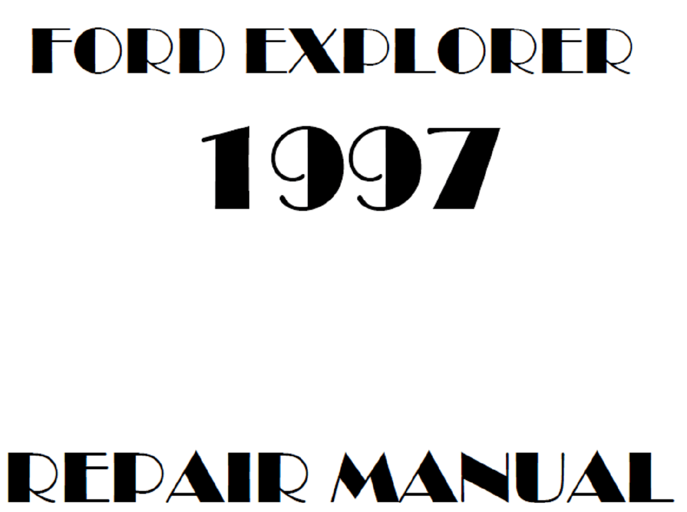 1997 Ford Explorer repair manual